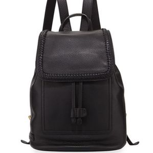 Cole Haan - Celia Woven-Trim Leather Backpack